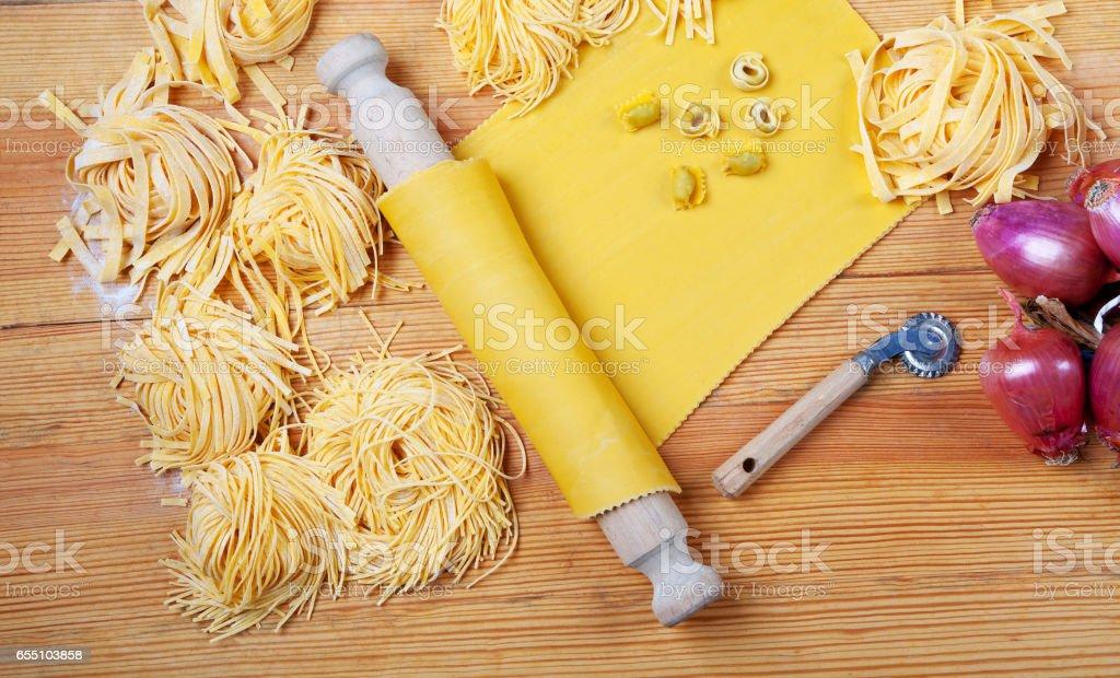 Italian Handmade pasta stock photo