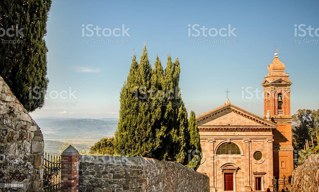 Italian heritage - Church in Tuscany region stock photo