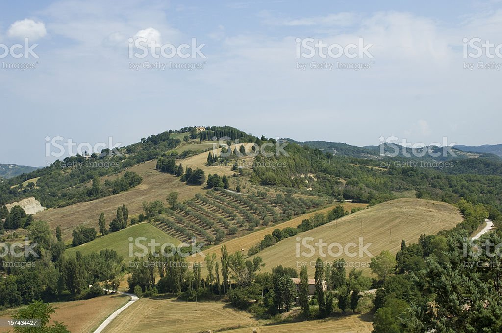 Italian Hilltop Scene in Umbria royalty-free stock photo
