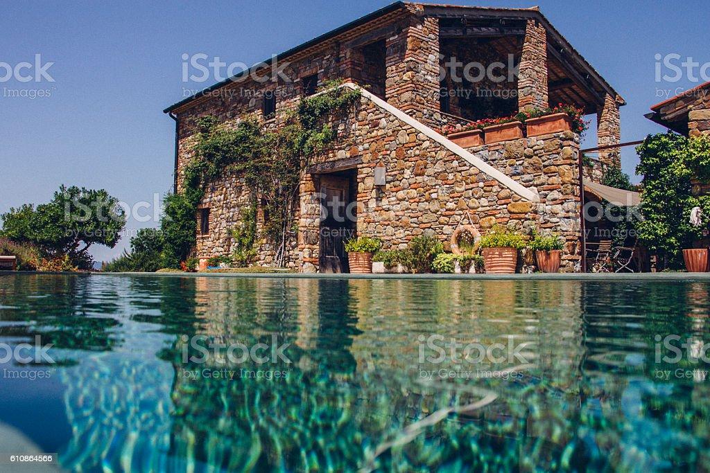 Italian Holiday Villa stock photo
