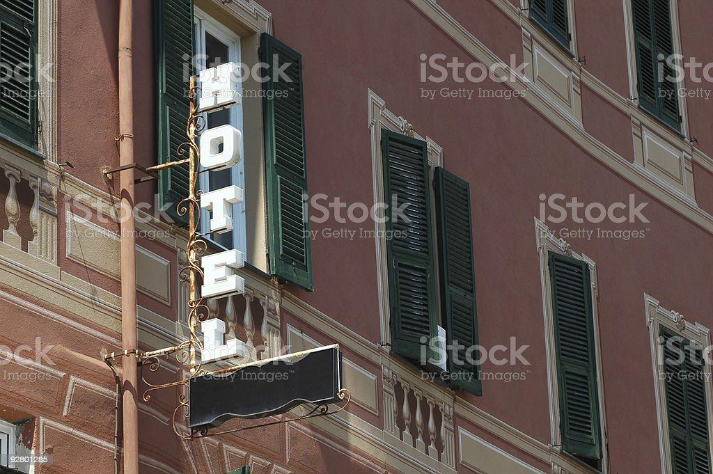 italian hotel royalty-free stock photo