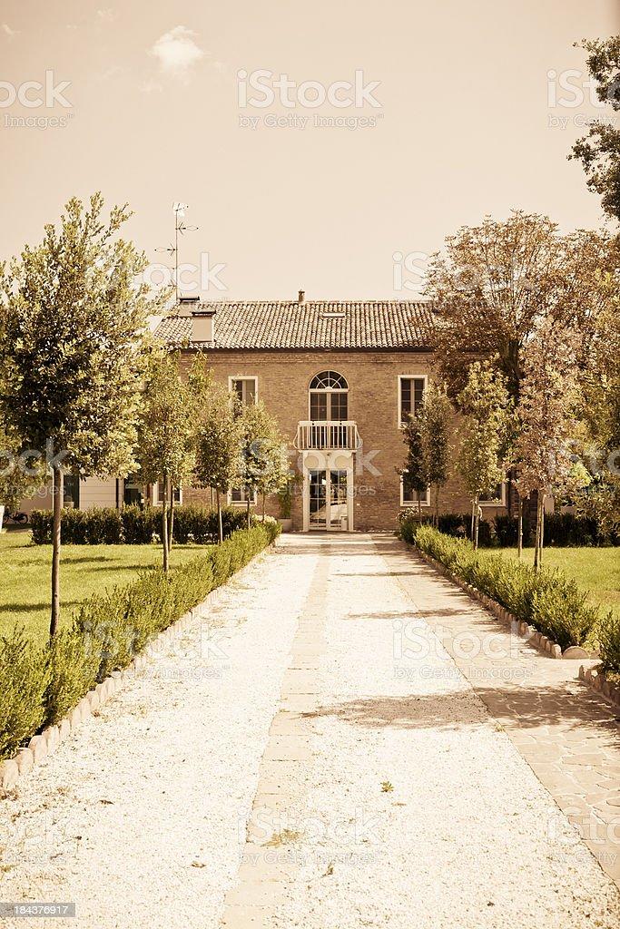 Italian house. Ferrara, Italy. royalty-free stock photo