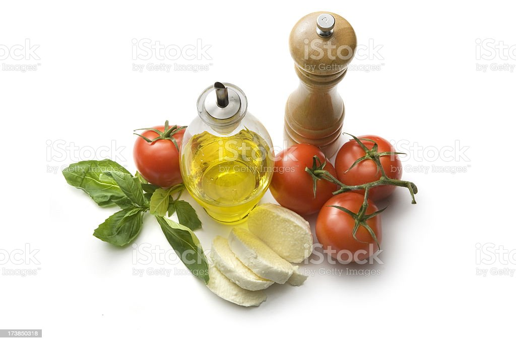 Italian Ingredients: Caprese royalty-free stock photo