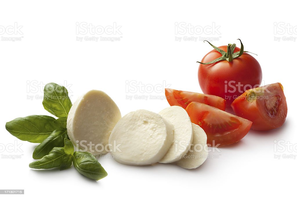 Italian Ingredients: Caprese Salad stock photo
