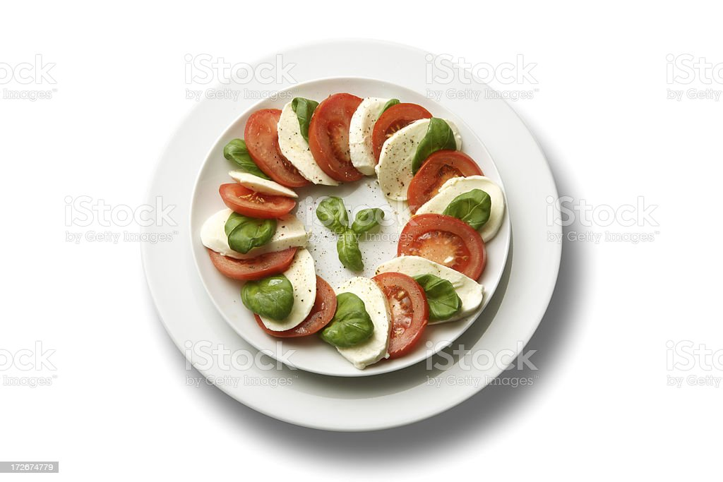 Italian Ingredients: Caprese Salad royalty-free stock photo