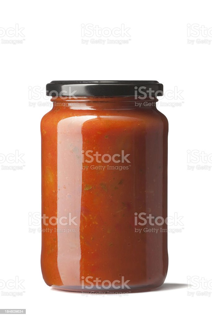 Italian Ingredients: Prepared Pasta Sauce royalty-free stock photo