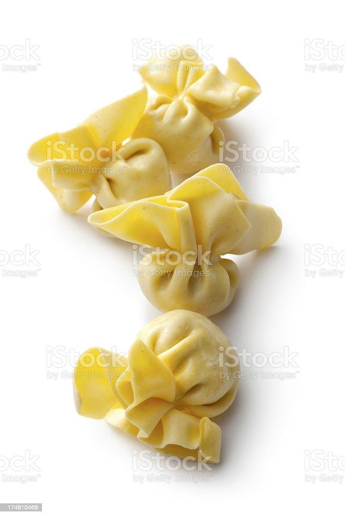 Italian Ingredients: Sacchettini Isolated on White Background royalty-free stock photo