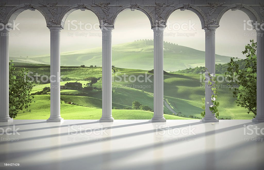 Italian interior background stock photo