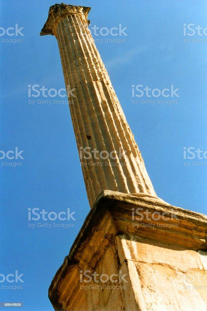 Italian Ionic Column stock photo