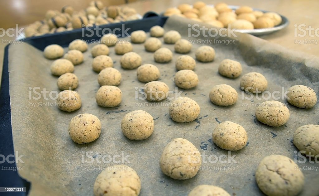 Italian Lady's kisses biscuits before cooking stock photo