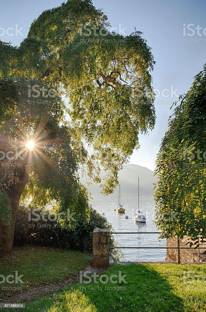 Italian Lake Maggiore stock photo