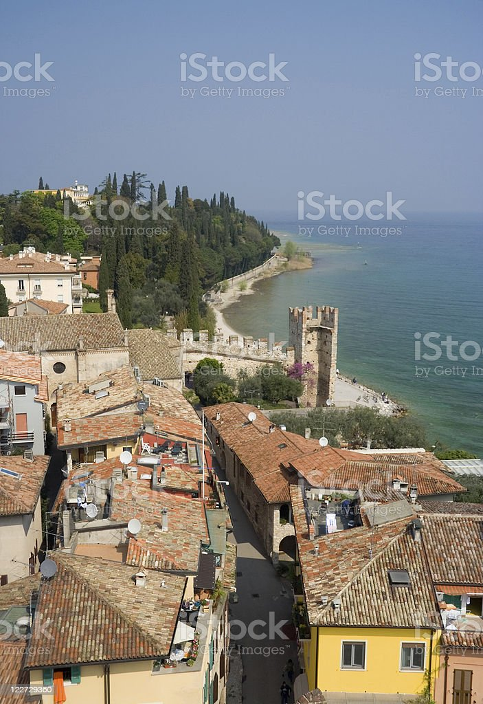 Italian Lakeside Town royalty-free stock photo