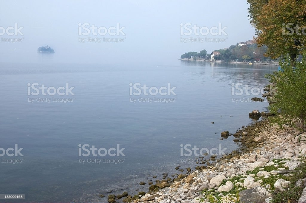 Italian lakeside view stock photo