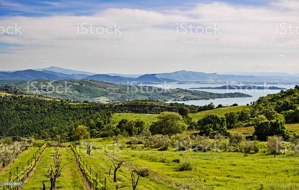 Italian landscape from Umbria stock photo