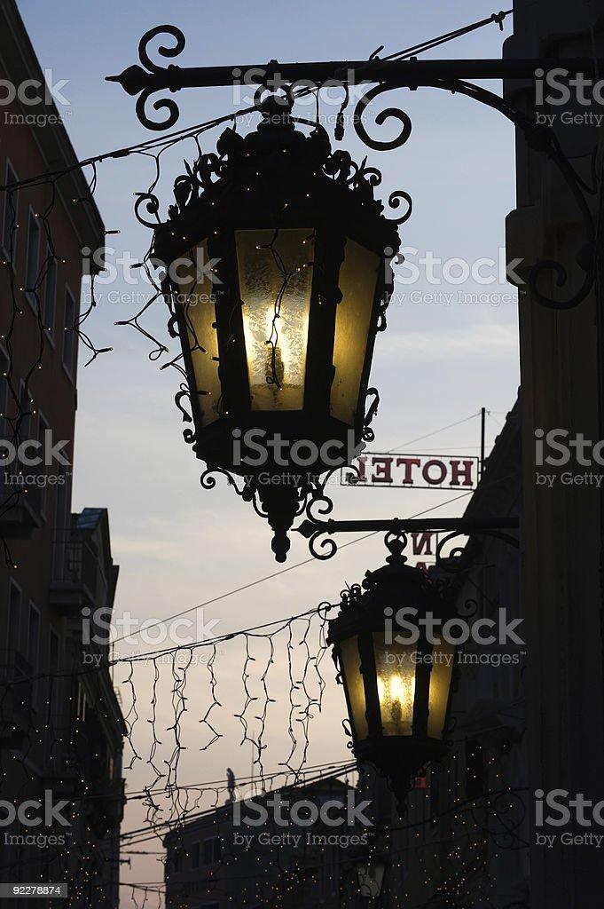 Italian lanterns royalty-free stock photo