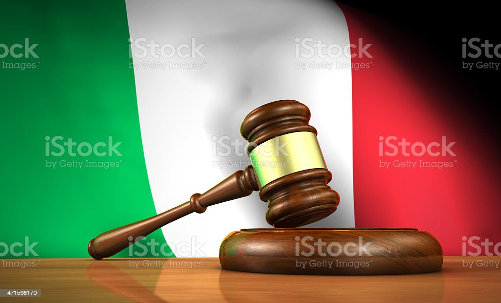 Italian Law And Justice Concept stock photo
