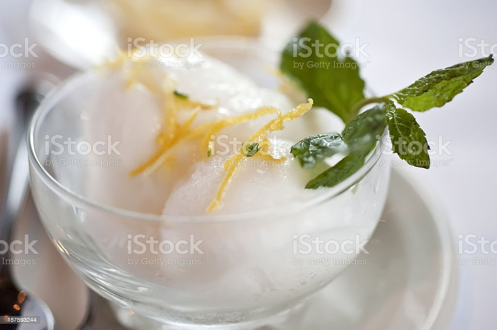 Italian lemon sorbet royalty-free stock photo