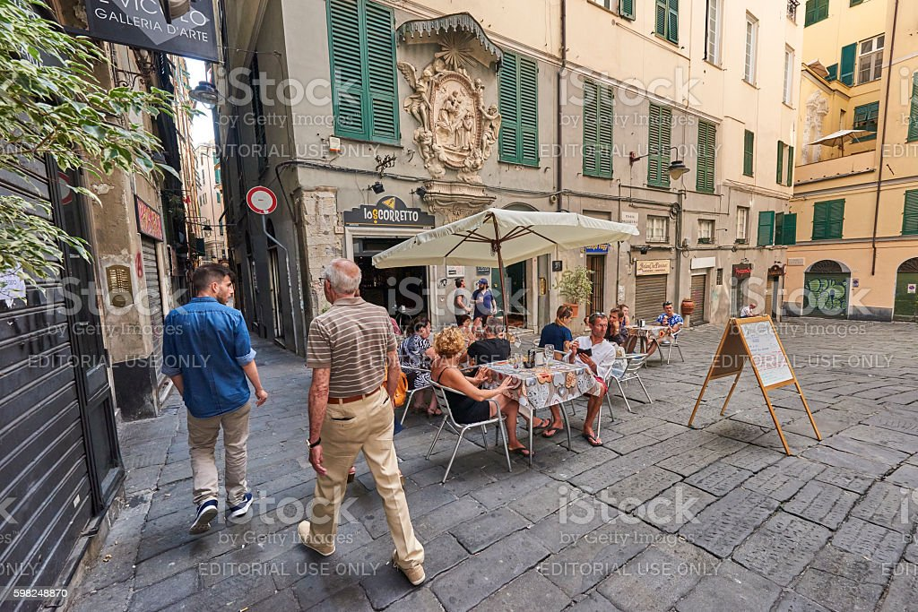 Italian Lifestyle in Genova stock photo