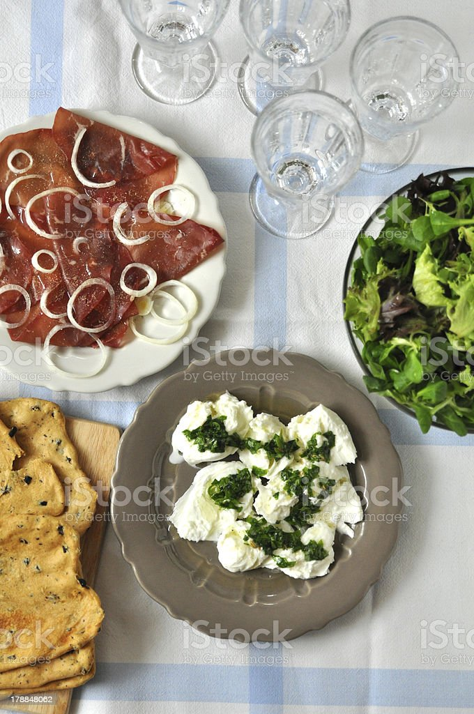 Italian Lunch Table royalty-free stock photo