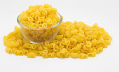 Italian Macaroni Pasta on white