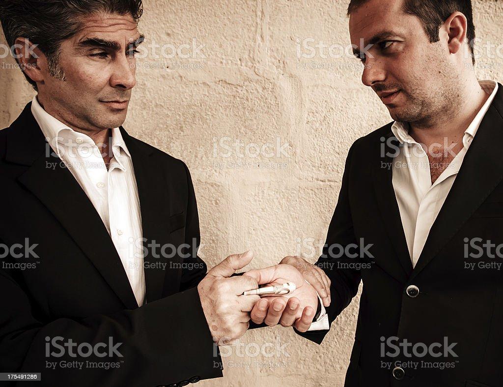 Italian Mafia royalty-free stock photo