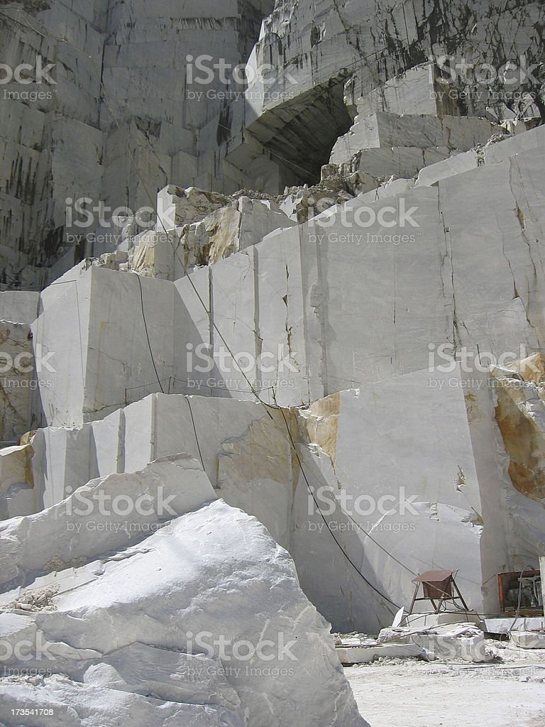 Italian Marble Mountains, Quarry I stock photo