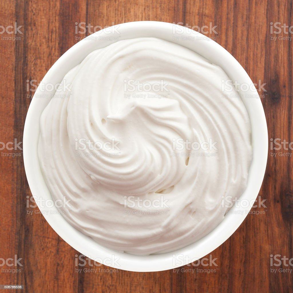 Italian meringue stock photo