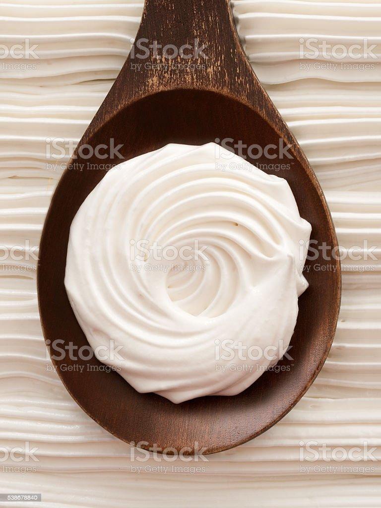 Italian meringue stock photo