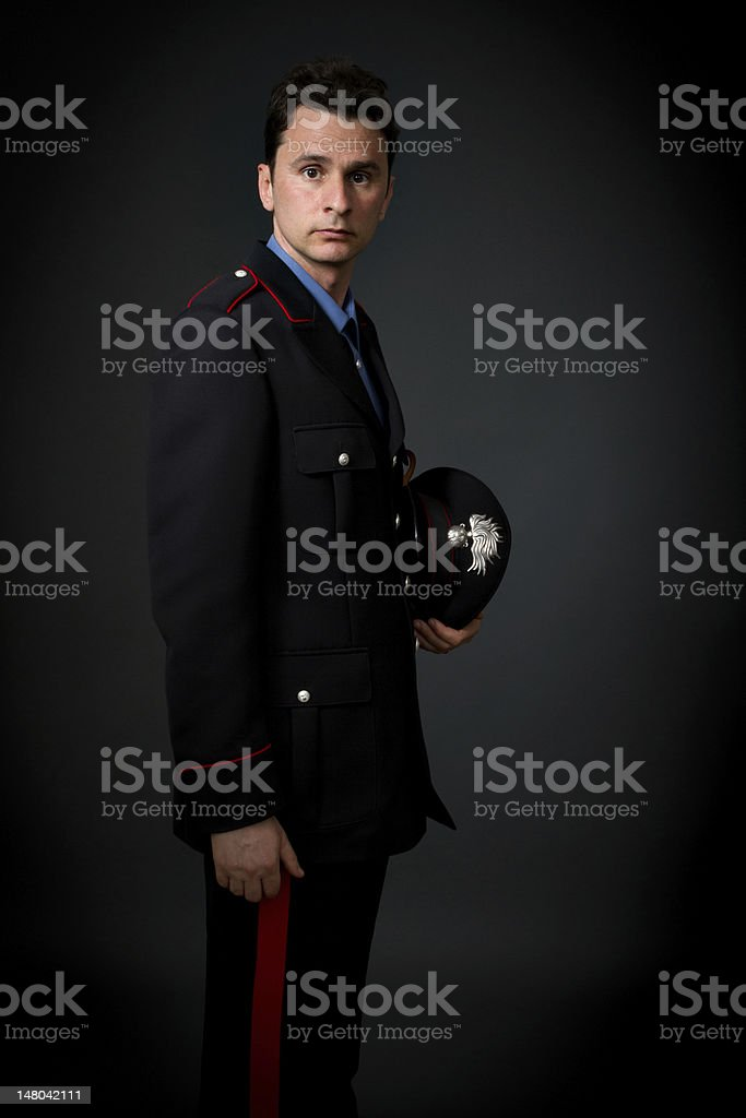 italian military carabiniere police stock photo