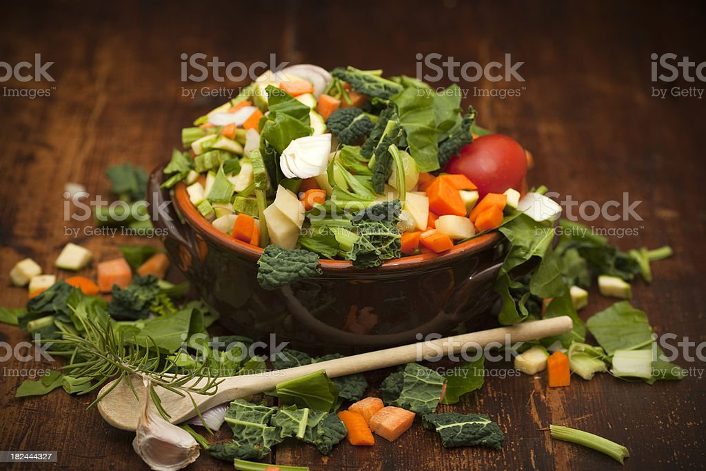 italian minestrone royalty-free stock photo