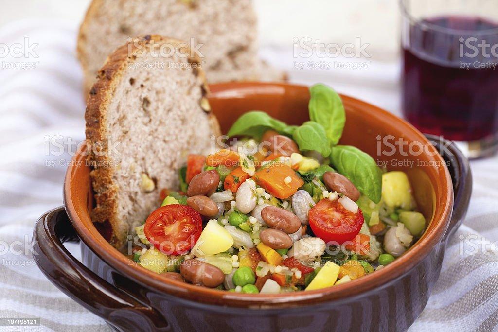 italian minestrone soup royalty-free stock photo