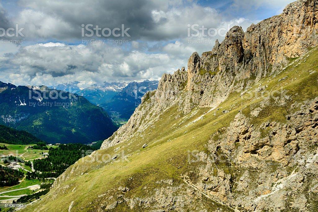 Italian Mountain Landscape stock photo