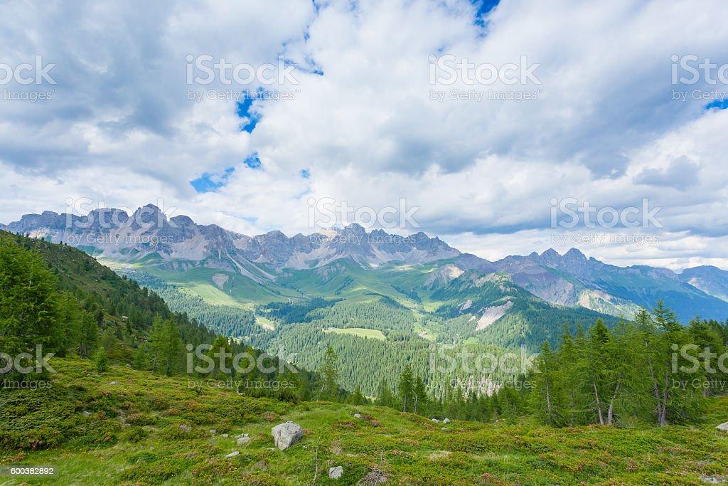 Italian mountain panorama stock photo