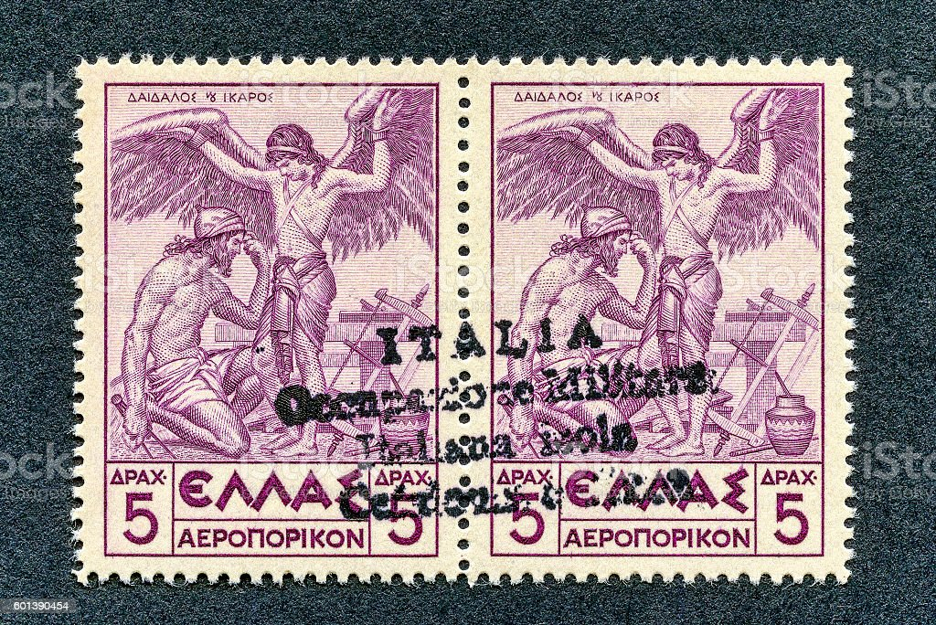 1941 -  Italian occupation stamp Cefalonia and Itaca stock photo