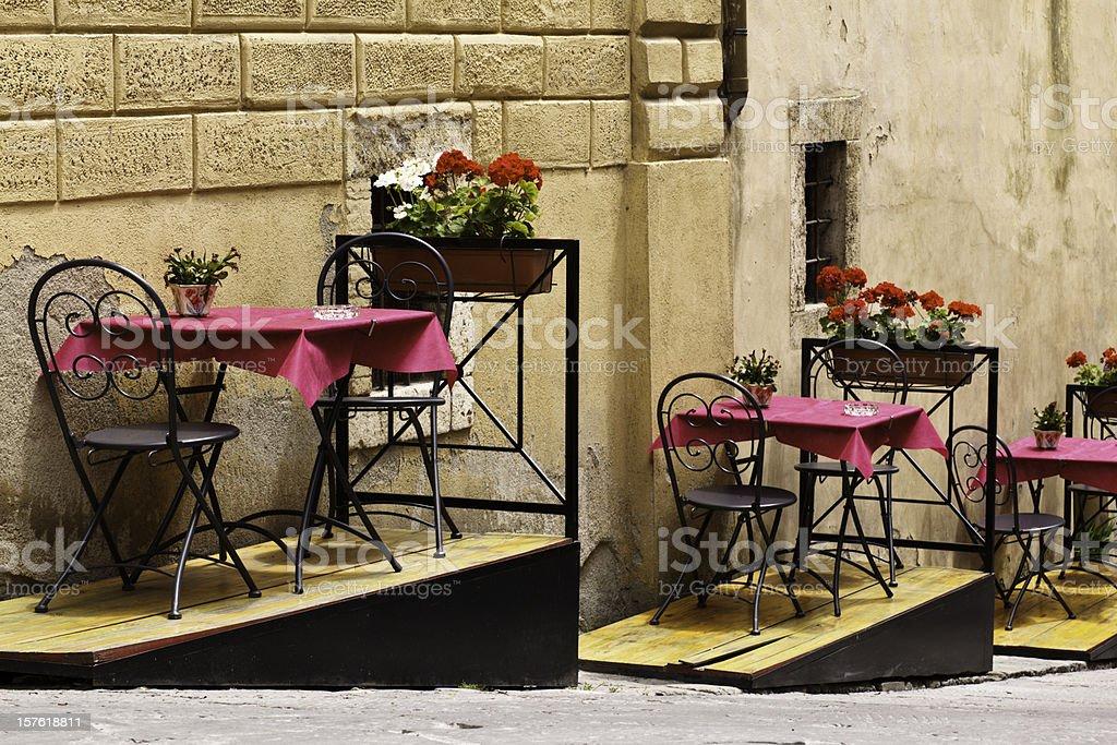 Italian Outdoor Restaurant royalty-free stock photo