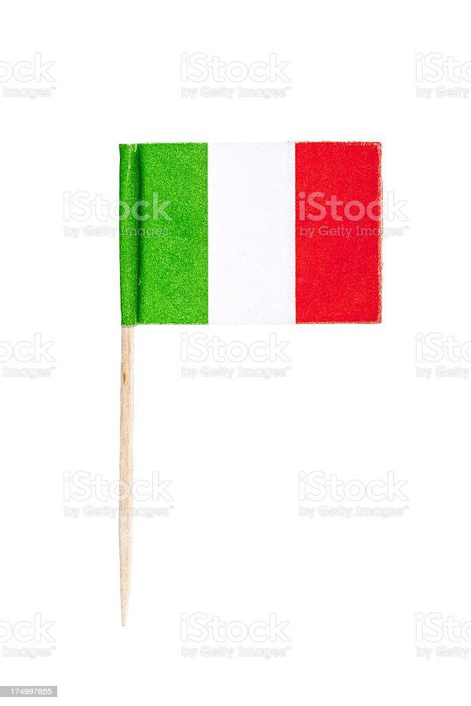 Italian paper flag royalty-free stock photo