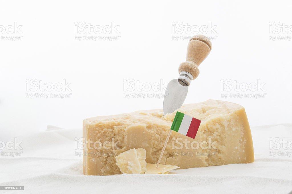 Italian parmesan cheese stock photo