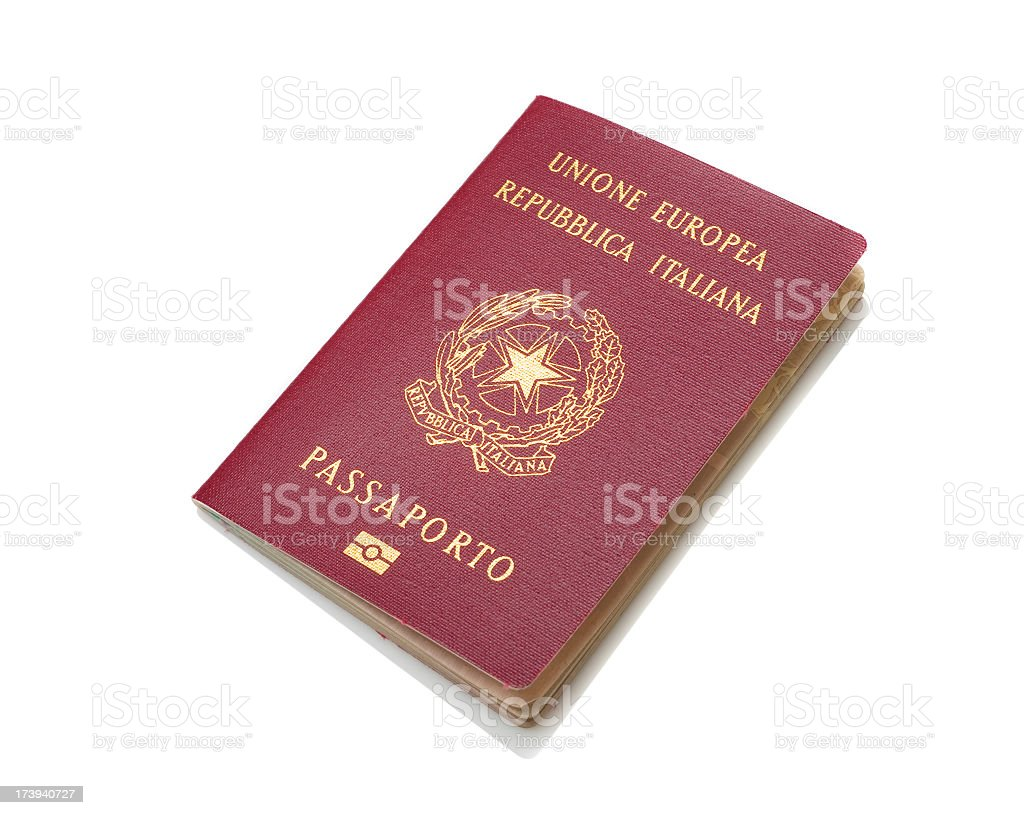 Italian Passport stock photo