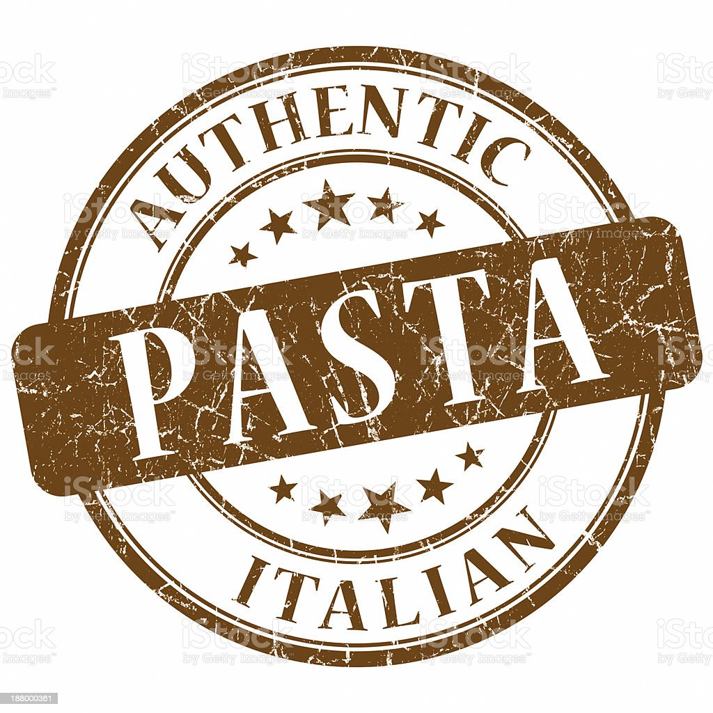 italian pasta brown stamp vector art illustration