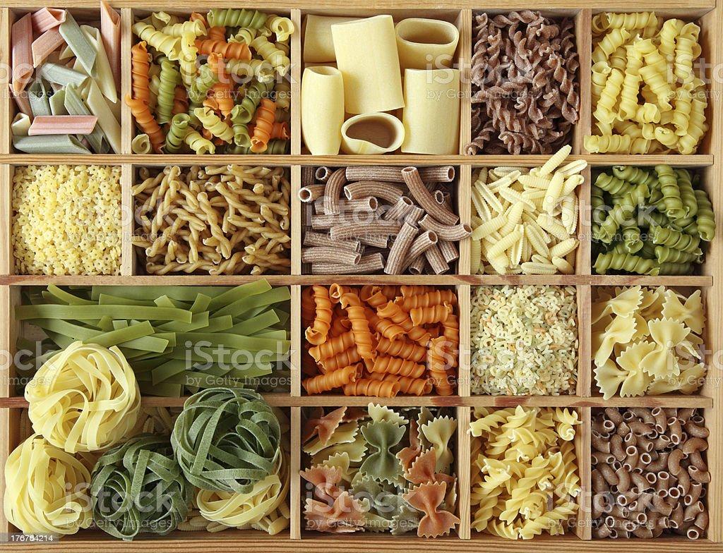 Italian pasta collection royalty-free stock photo