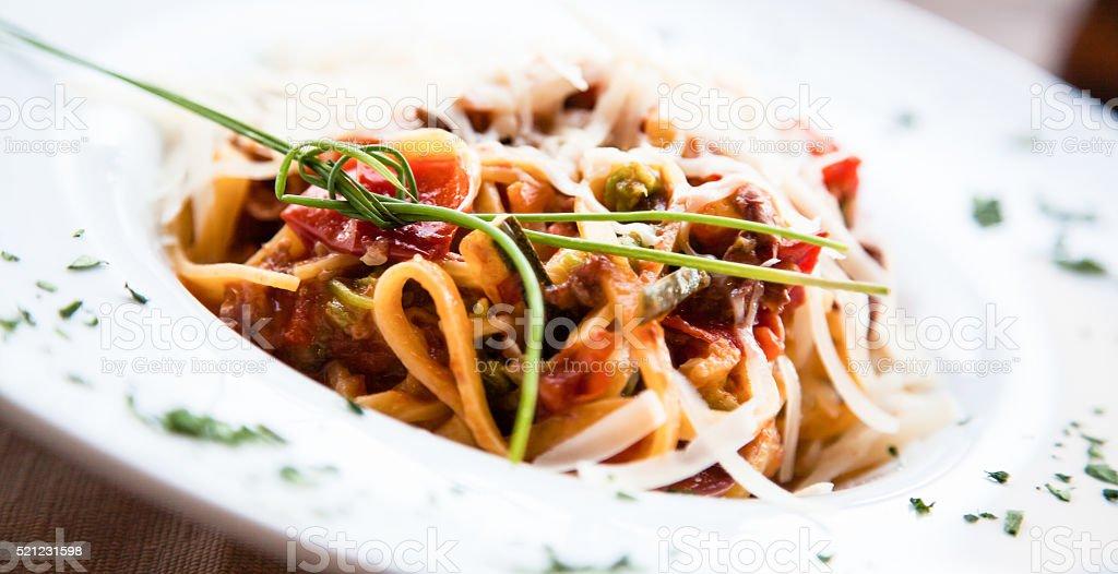 Italian Pasta - Fettuccine stock photo
