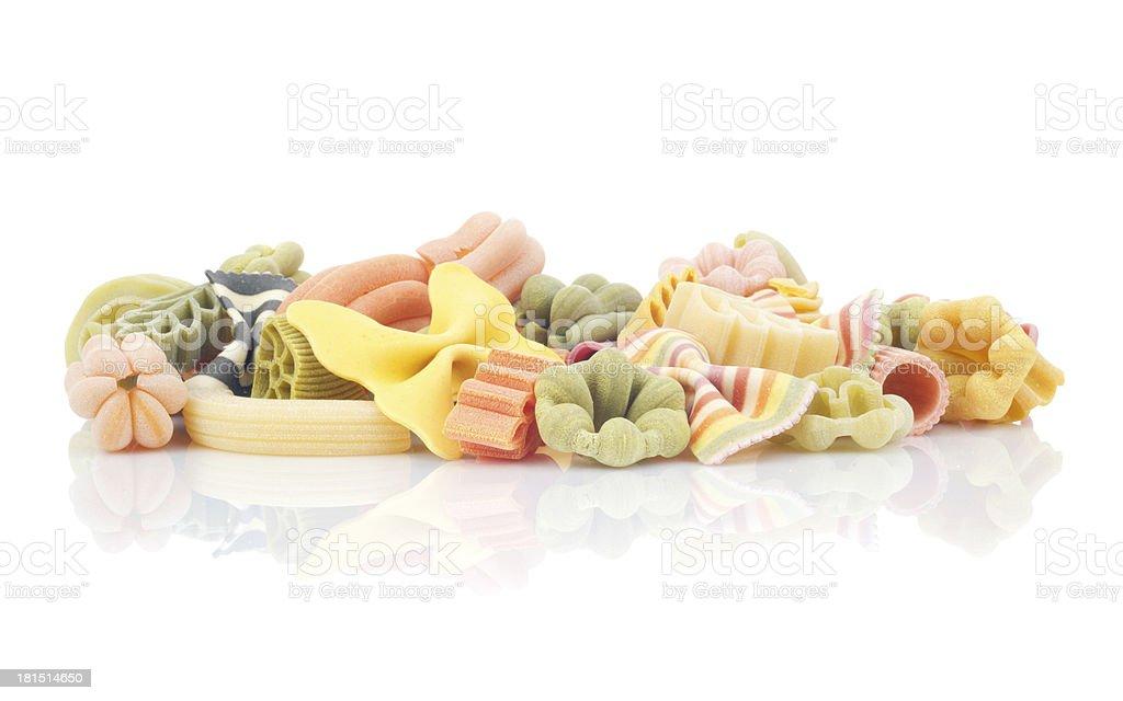 italian pasta (macaroni) isolated on white background royalty-free stock photo