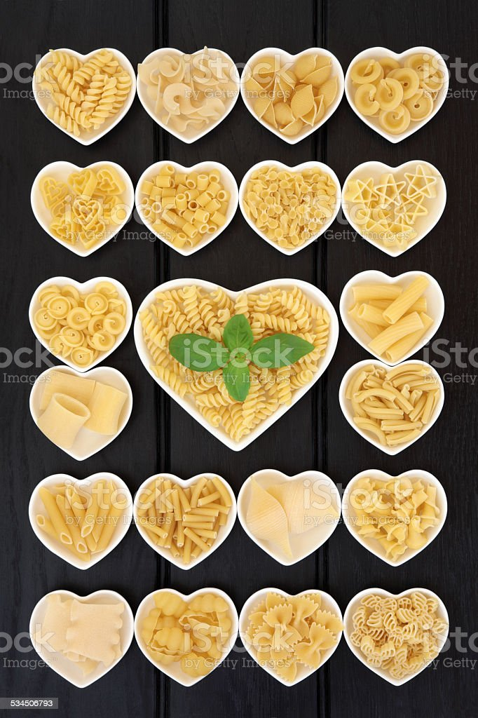 Italian Pasta Sampler stock photo