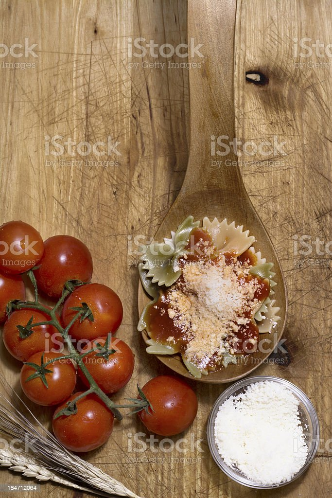 Italian pasta, ties royalty-free stock photo
