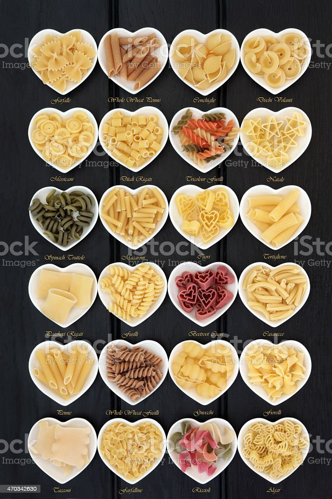 Italian Pasta with Titles stock photo