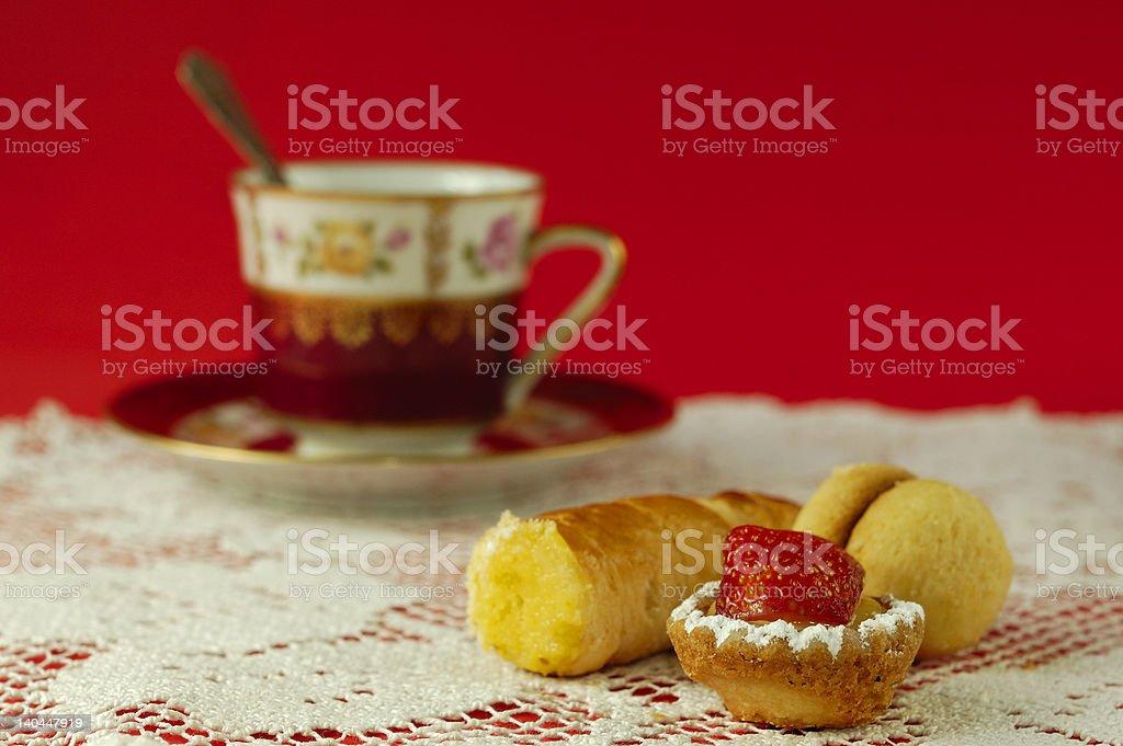 Italian pastries with espresso royalty-free stock photo