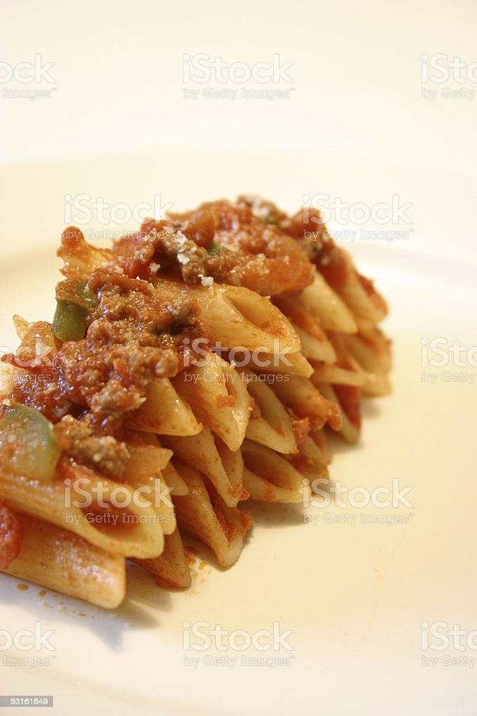 italian penne for a penny! royalty-free stock photo
