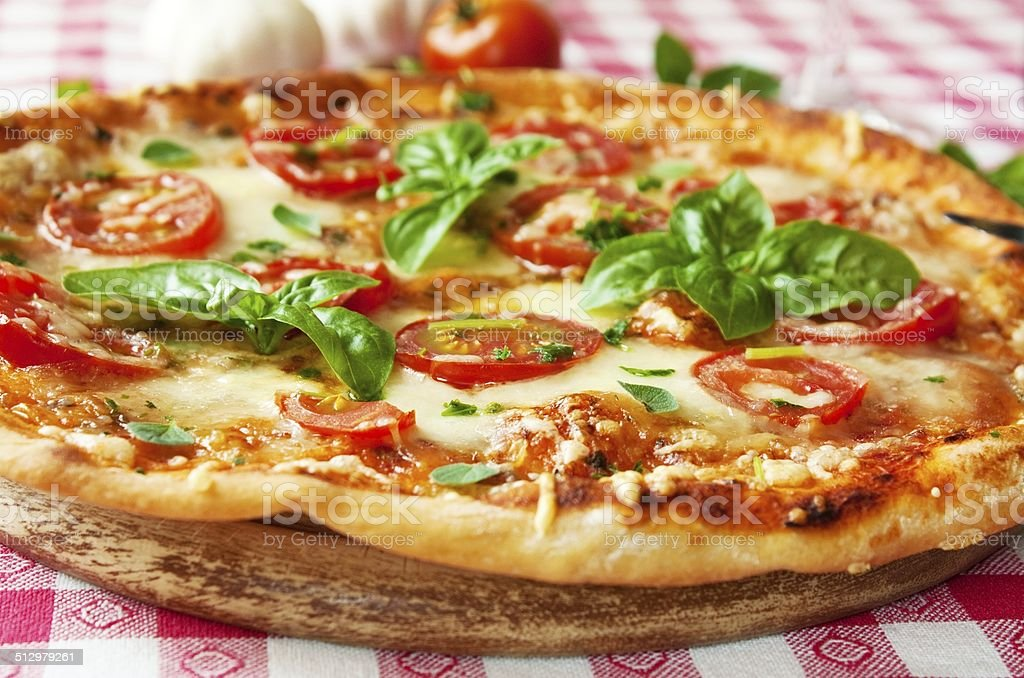 Italian Pizza Margherita stock photo