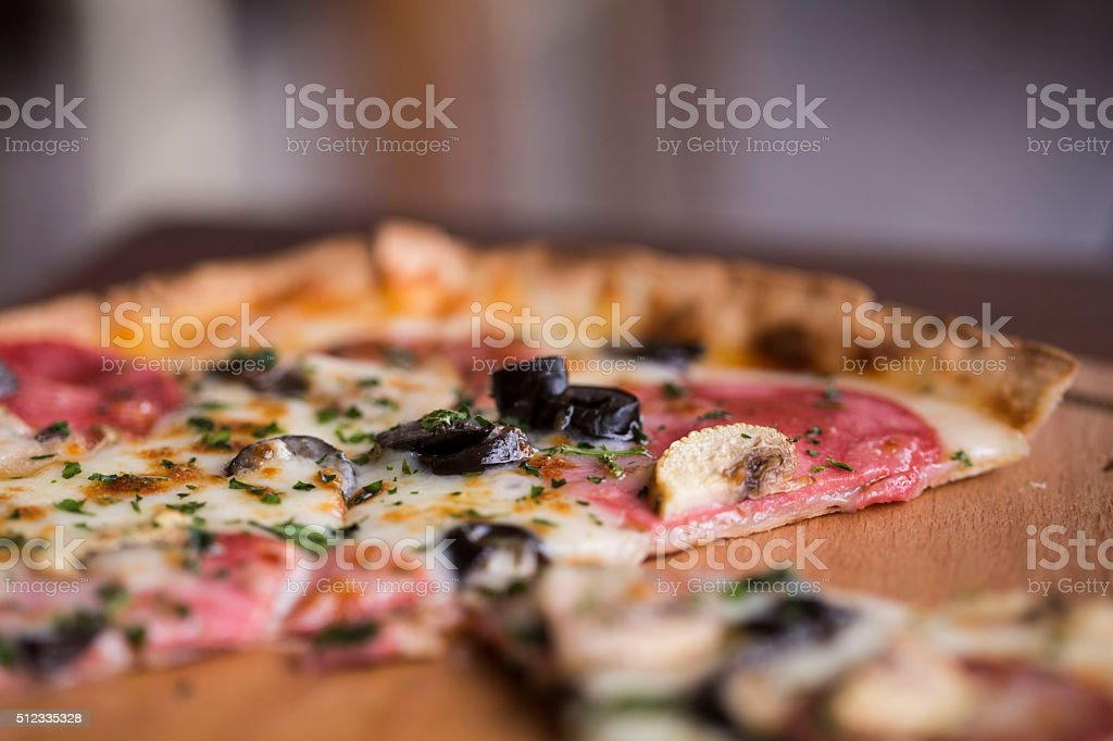 italian pizza stock photo