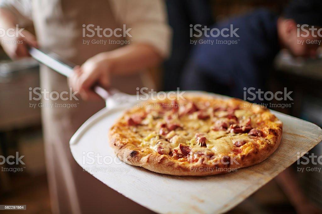 Italian pizza stock photo